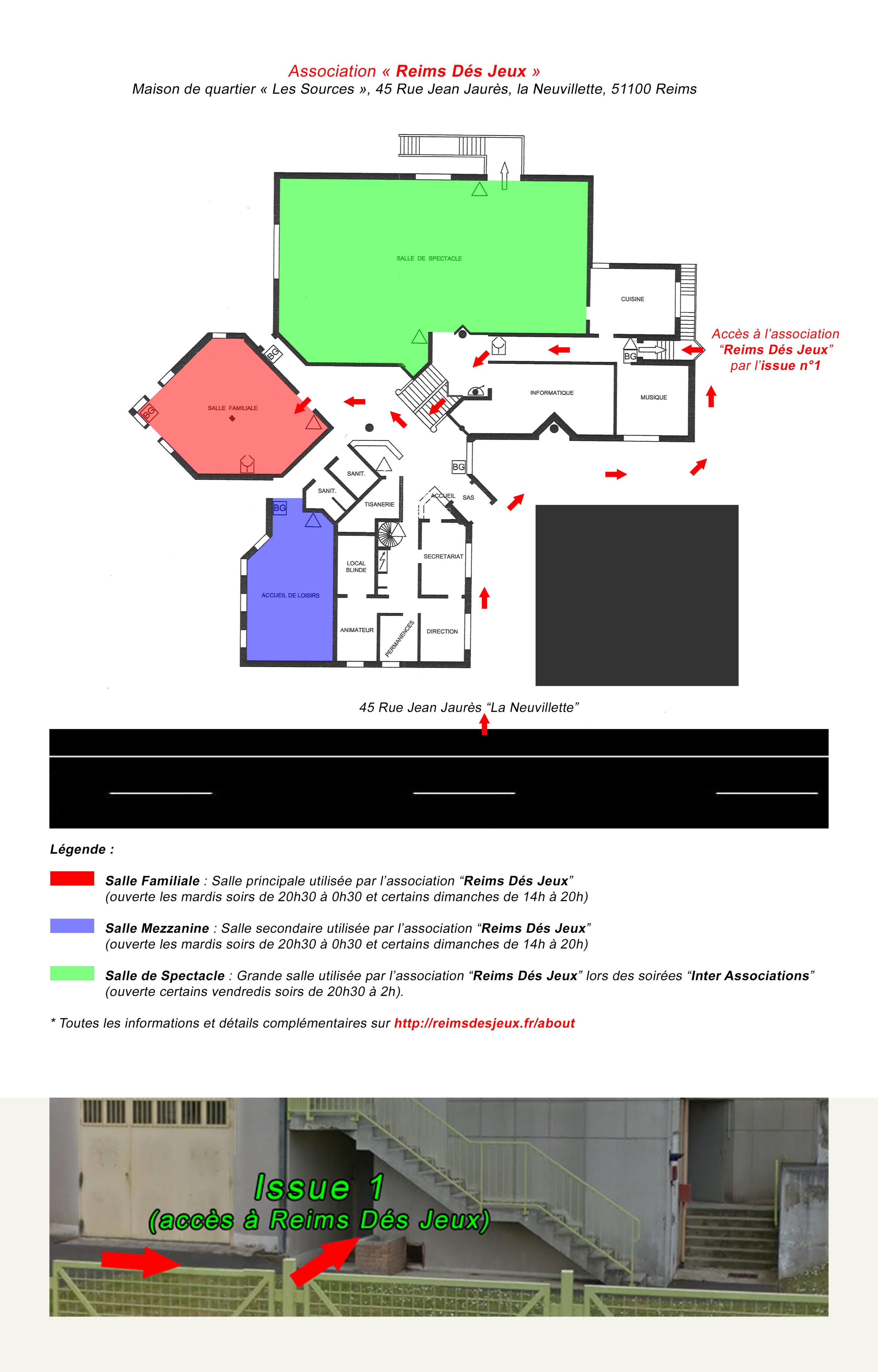 l 39 acc s l 39 association reims d s jeux se fait d sormais par l 39 issue n 1 reims d s jeux. Black Bedroom Furniture Sets. Home Design Ideas