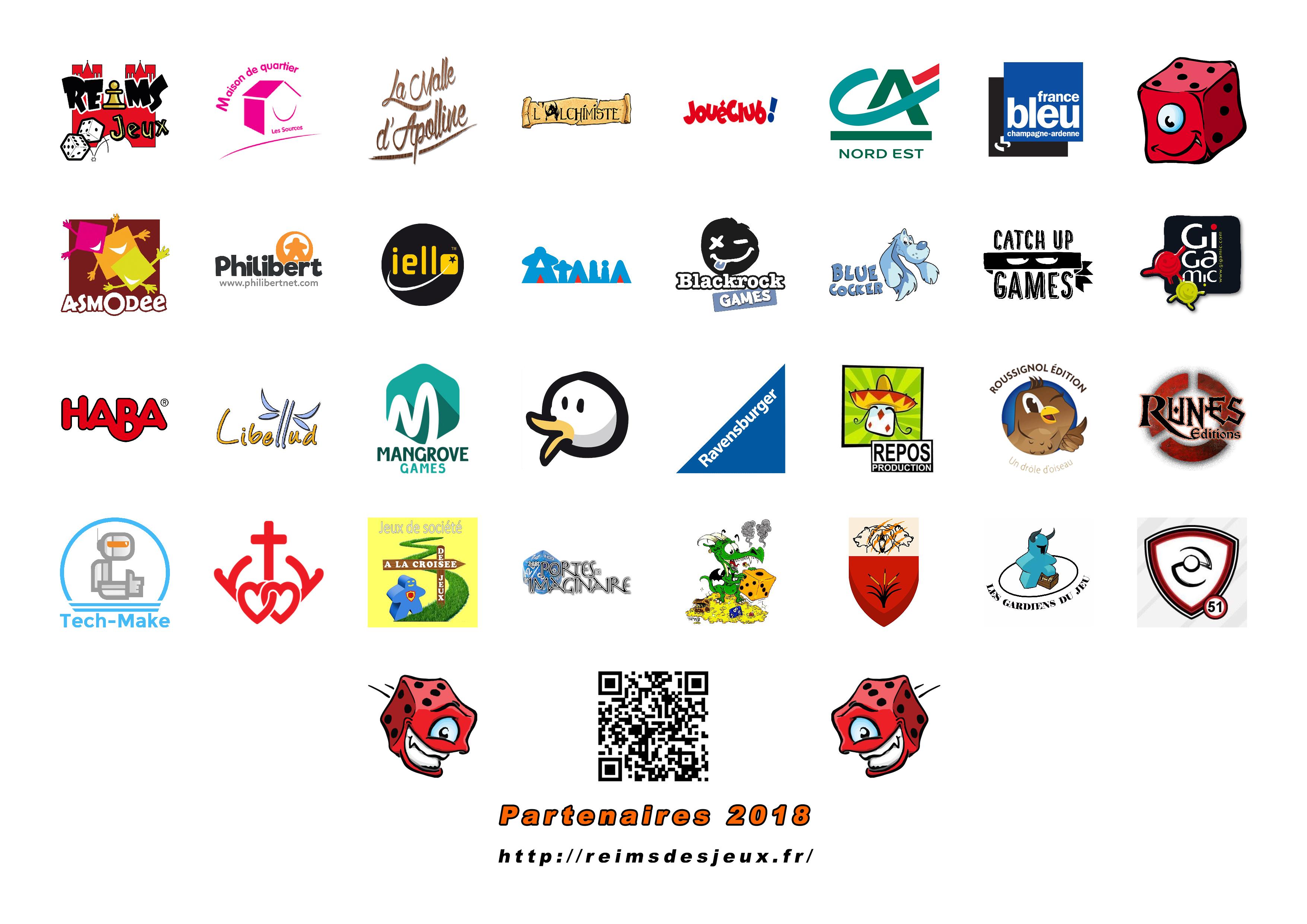 Partenaires de Reims Dés Jeux pour le Festival Dés Jeux 2018
